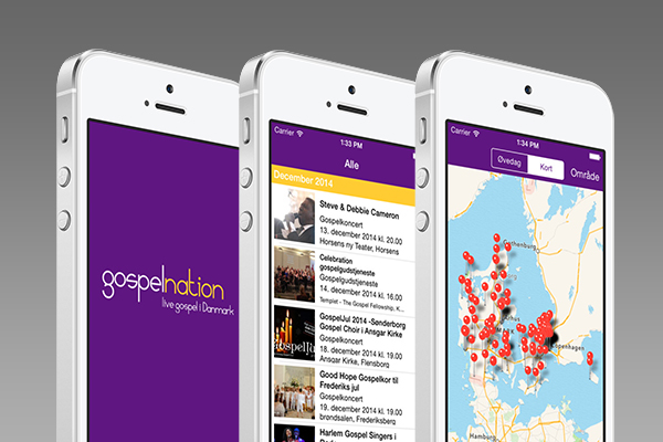 Native iOS iPhone app til Gospelnation